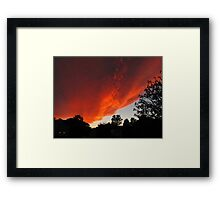 Invasion of the Sunset Cloud Spaceship Framed Print