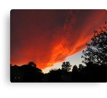 Invasion of the Sunset Cloud Spaceship Canvas Print