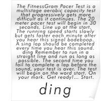 the fitnessgram pacer test Poster