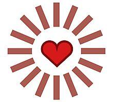 Shining Heart Photographic Print