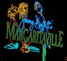 Margaritaville at night by TJ Baccari Photography