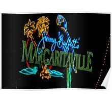 Margaritaville at night Poster
