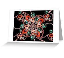 Luxury Collage Ornament New Noveau Artwork Greeting Card