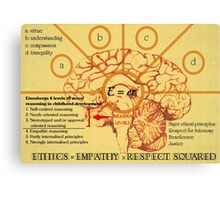 Ethics equals empathy x respect squared  Canvas Print