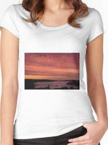 Sydney Sunset Women's Fitted Scoop T-Shirt
