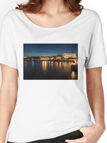 London Night Magic - Silky Reflections on the Thames River Women's Relaxed Fit T-Shirt