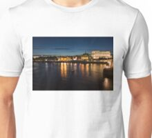 London Night Magic - Silky Reflections on the Thames River Unisex T-Shirt