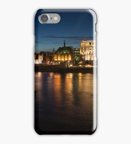 London Night Magic - Silky Reflections on the Thames River iPhone Case/Skin