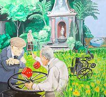 Gambling grandma by lazarohurtado