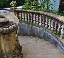Vanderbilt Mansion Staircase in the Garden by Gilda Axelrod