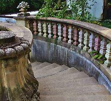 Vanderbilt Mansion Staircase in the Garden by Gilda Axelrod