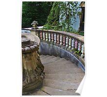 Vanderbilt Mansion Staircase in the Garden Poster
