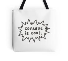 Consent is Cool Comic Flash Tote Bag