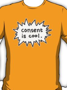 Consent is Cool Comic Flash T-Shirt