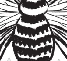 Bee Black & White Sticker