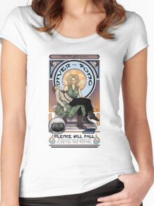 Silence Will Fall: The River's Pietà Women's Fitted Scoop T-Shirt