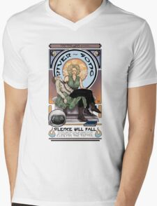Silence Will Fall: The River's Pietà Mens V-Neck T-Shirt