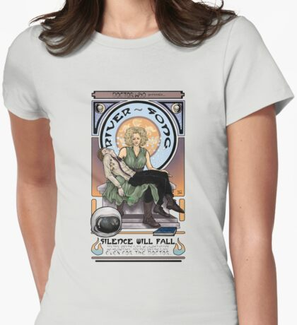 Silence Will Fall: The River's Pietà Womens Fitted T-Shirt