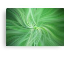 Green Colored Abstract. Concept Health Canvas Print