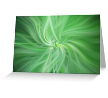 Green Colored Abstract. Concept Health Greeting Card