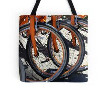 Bike Wheels Tote Bag