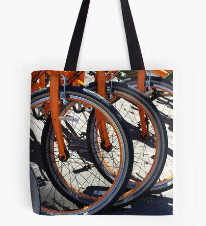 Bike Wheels Tote Bag