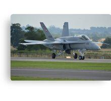 Swiss Air Force F-18 Hornet.... Canvas Print