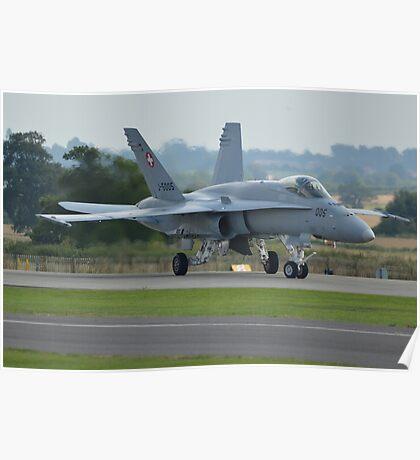 Swiss Air Force F-18 Hornet.... Poster