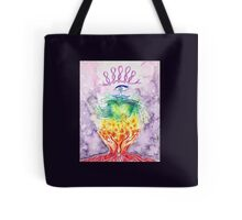 Hands and Heart Chakra Doodle Tote Bag