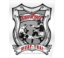 muay thai fight badge retro badge thailand martial art shirt sticker Poster