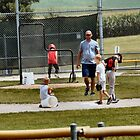 Little League practice in Newton Iowa by Keala