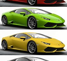Four Lambo by digitalpaints