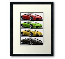 Four Lambo Framed Print