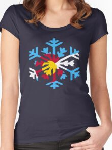 Colorado Snow Women's Fitted Scoop T-Shirt