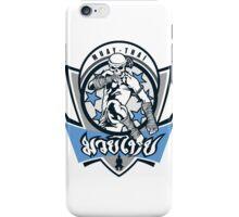 muay thai skull thailand martial art sport logo badge sticker shirt iPhone Case/Skin