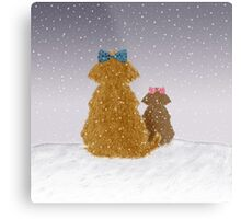 Baby it is cold outside Metal Print