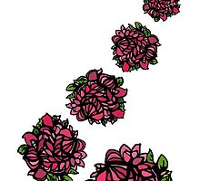Falling Roses (Asymmetrical) by hiraeth