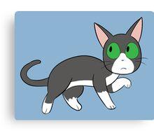 Tuxedo Cat Love! Canvas Print