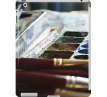 Brushes and colours behind art iPad Case/Skin