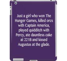 just a girl iPad Case/Skin