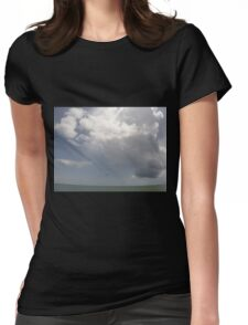 Clouds over the ocean Womens Fitted T-Shirt