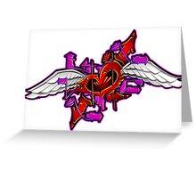 heart graffiti Greeting Card