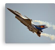 Belgian Air Force F-16 Falcon(350th Squadron) Canvas Print