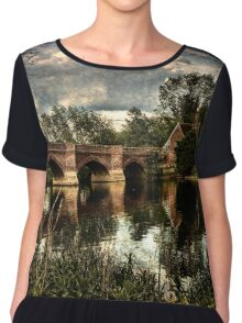 Clifton Hampden Bridge Over The Thames Chiffon Top