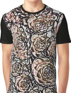 Abstract Orange Nature Pattern Graphic T-Shirt