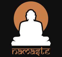 Buddha Rising Sun Namaste Kids Tee