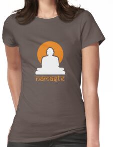 Buddha Rising Sun Namaste Womens Fitted T-Shirt