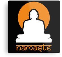 Buddha Rising Sun Namaste Metal Print