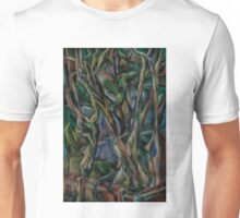 Winter Tree Blues Unisex T-Shirt