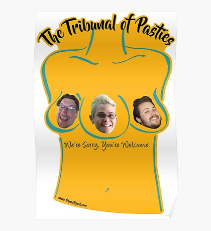 The Tribunal of Pasties - Yellow Poster